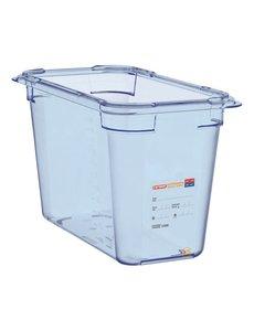 Araven ABS blauwe voedseldoos | GN 1/3 - 20cm diep | BPA-vrij