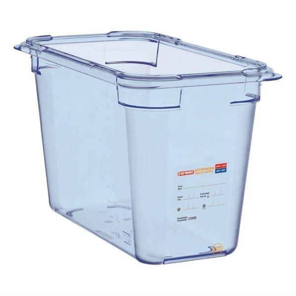 Araven Araven ABS blauwe voedseldoos BPA-vrij | GN 1/3 - 20cm diep