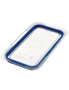 Araven ABS blauwe luchtdichte deksel voor voedseldoos GN 1/3 | 32.5x17.6 cm.