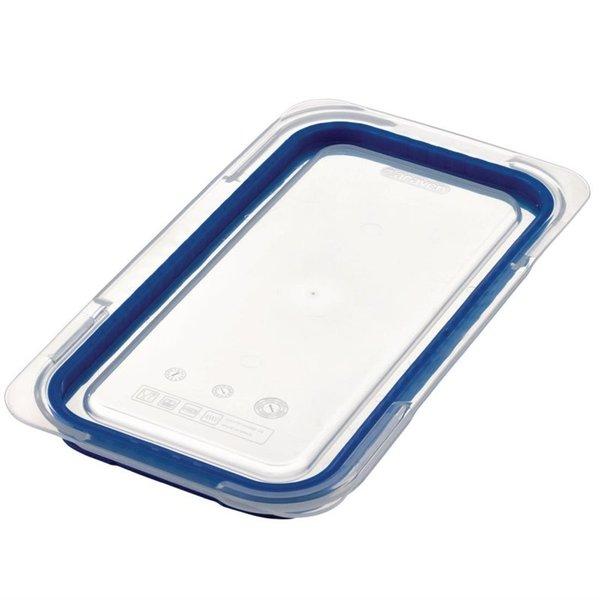 Araven Araven ABS blauwe luchtdichte deksel voor voedseldoos GN 1/3   32.5x17.6 cm.