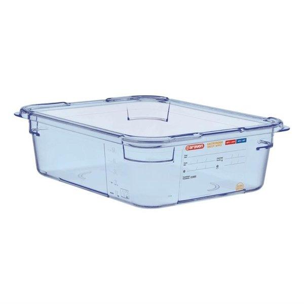 Araven Araven ABS blauwe voedseldoos | GN 1/2 - 10cm diep | 10(h)x32,5(b)x26,5(d)cm