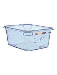 Araven ABS blauwe voedseldoos | GN 1/2 - 15cm diep | 15(h)x32,5(b)x26,5(d)cm