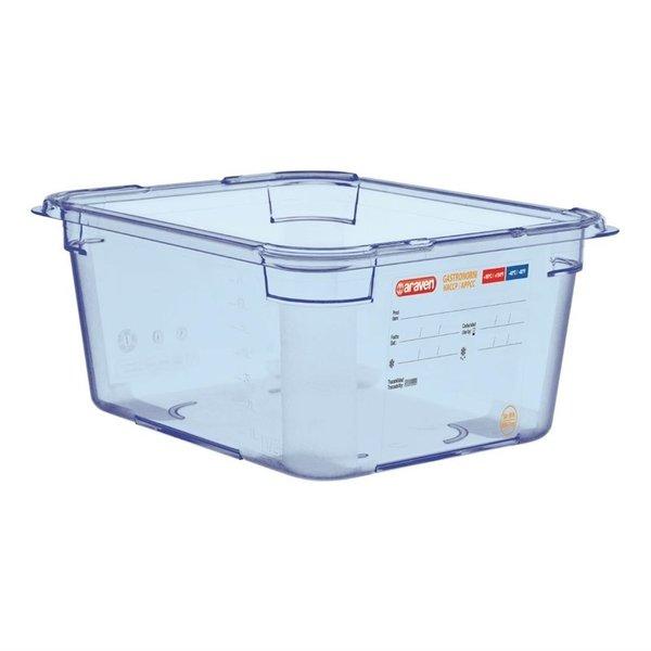 Araven Araven ABS blauwe voedseldoos BPA-vrij | GN 1/2 - 15cm diep