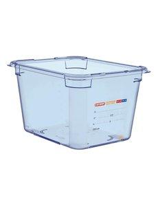 Araven ABS blauwe voedseldoos | GN 1/2 - 20cm diep | 20(h)x32,5(b)x26,5(d)cm