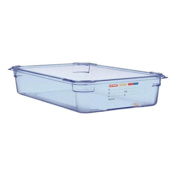 Araven Araven ABS blauwe voedseldoos | GN 1/1 - 10cm diep | 10(h) x 53(b) x 32,5(d)cm