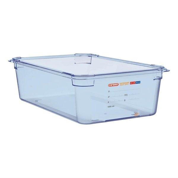 Araven Araven ABS blauwe voedseldoos | GN 1/1 - 15cm diep | 15(h) x 53(b) x 32,5(d)cm