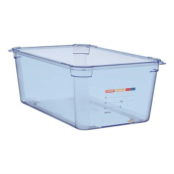 Araven Araven ABS blauwe voedseldoos | GN 1/1  - 20cm diep | 20(h) x 53(b) x 32,5(d)cm