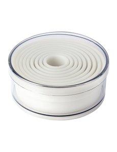 Schneider Stekerdoos rond glad nylon | 2 - Ø10cm. | Set van 9