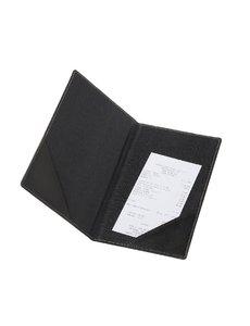 Securit Trendy rekeningmap A5 zwart Lederlook | 23.5x13 cm.
