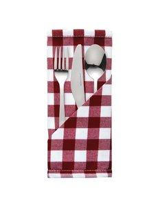 Mitre Essentials Comfort Gingham servet rood-wit | 100% polyester. 41x41cm. | 10 stuks.
