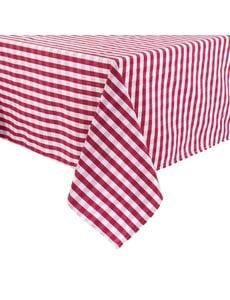Mitre Essentials Mitre Comfort Gingham tafelkleed rood-wit | 100% polyester. 89x89cm.