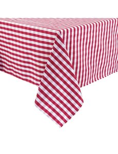 Mitre Essentials Comfort Gingham tafelkleed rood-wit | 100% polyester. 132x132cm.