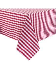 Mitre Essentials Comfort Gingham tafelkleed rood-wit | 100% polyester. 178x178cm