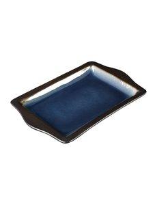 Olympia Nomi rechthoekige tapasschalen blauw-zwart | 28,3x17,8cm | 6 stuks