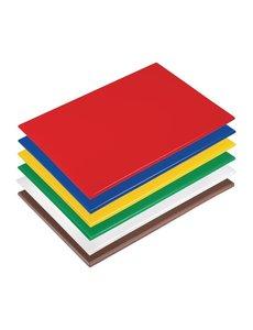 Hygiplas LDPE antibacteriële snijplanken set   450x300x10mm   6 kleuren