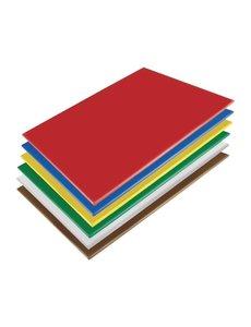 Hygiplas LDPE snijplanken set   600x450x10mm   6 kleuren