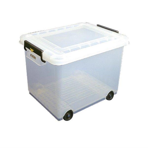 Araven Araven Mobiele voedselcontainer met deksel 50 liter | 40(h) x 53(b) x 40(d)cm