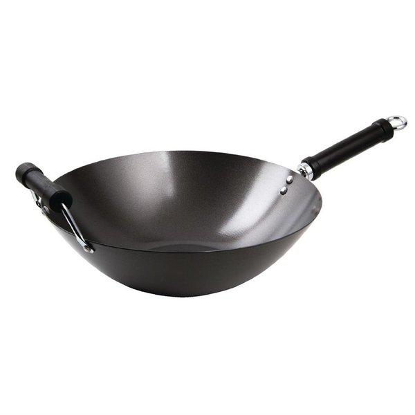 Kitchen Craft Anti-kleef wokpan met platte bodem | Ø 35,5cm | Geschikt voor inductie