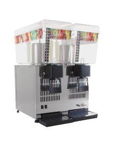 Santos Drankdispenser dubbel 2x12 liter | 4°C tot +12°C | 260Watt