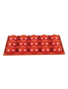 Pavoni Pavoni Formaflex siliconen bakvorm 15 halve bollen