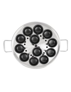 Vogue Eier-pocheerpan met handvatten voor 12 eieren |  Ø35cm