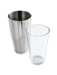 APS Boston cocktailshaker en glas | Shaker 80cl, glas 45,5cl