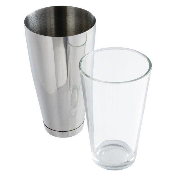 APS APS Boston cocktailshaker en glas | Shaker 80cl, glas 45,5cl