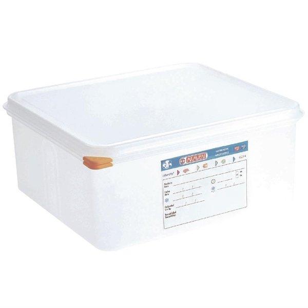 Araven Araven Voedseldoos met deksel 13.5 liter | GN2/3 - 150mm | 4 stuks