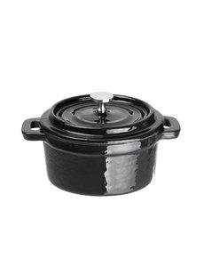 Vogue Ronde gietijzeren zwarte mini braadpan | 7,5(h) x 10(Ø)cm