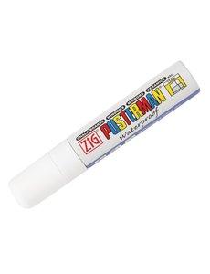 Securit Zig Posterman weerbestendige krijtstift wit | Vierkante punt 15 mm