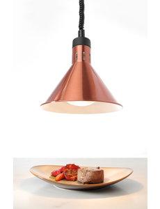 Hendi Koperen Warmtelamp met Infrarood 250Watt Lamp | 70 - 150 cm.