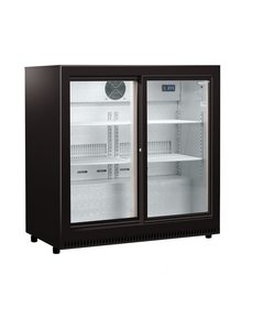 Husky Backbar koelkast met 2 schuifdeuren | C2Slide-865-BK-NL-HU | 87x52xH87cm