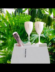 Valiente Wijnglas Kunststof Wit | Per 6 stuks