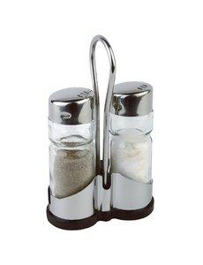 APS Peper- en zoutstel met houder | 4x8x(H)13cm