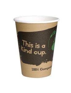 Fiesta Green Composteerbare koffiebekers enkelwandig bruin 23cl | 1000 stuks)