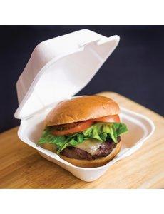 Vegware Composteerbare hamburgerbakjes 15x15xH8cm. | 500 stuks