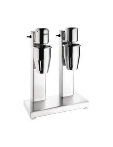 Buffalo Dubbele milkshake mixer 2x  1 liter | 160W | 15000tpm | 42x42x(H)56cm
