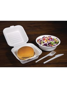 Fiesta Green Composteerbare hamburgerbakjes | 15x15xH8.5cm | 500 stuks