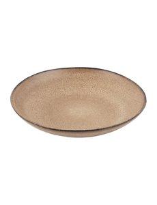 Olympia Build A Bowl platte kom aardebruin | Ø25x4,5cm | 4 stuks