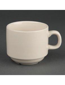 Olympia Ivory stapelbare koffiekopje 23 cl. | 12 stuks