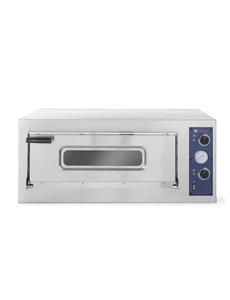 Hendi Pizza oven BASIC 4 - Enkele ovenkamer | 45/455˚C - 400V / 4700W - 975x814x(H)413mm
