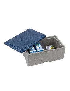Eurobox Warmhoudbox met blauw deksel 12.5 liter | 405x302xH205mm