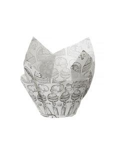 Hendi Vetbestendig papieren inlegvel voorgevormd - 150 st. - 150 st. - 160x160x(H)50mm