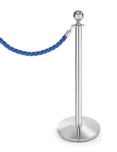 Hendi Afzetkoord - blauw met gepolijste haak - L1500mm