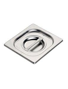 Gastro-M Gastronorm deksel met siliconen afdichting RVS GN 1/6   176x162mm