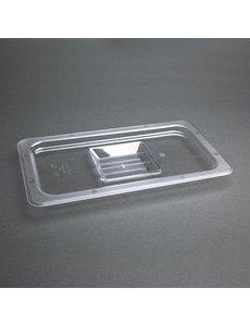 Vogue Polycarbonaat deksel transparant GN 1/3 | 325x176mm