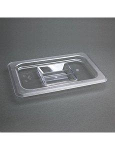 Vogue Polycarbonaat deksel transparant GN 1/4 | 265x162mm