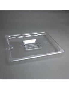 Vogue Polycarbonaat deksel met lepeluitsparing GN 1/2 | 325x265mm