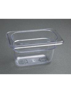 Vogue Polycarbonaat bak transparant GN1/9 - 100mm | 176x108mm