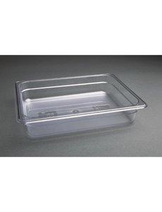 Vogue Polycarbonaat bak transparant GN 1/2 - 65mm | 325x265mm
